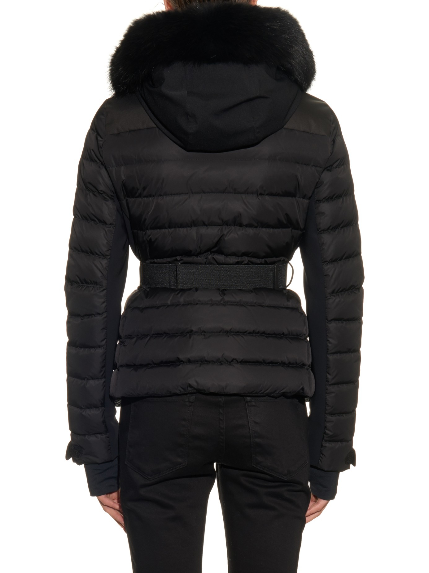 Moncler Grenoble Besse Coyote Fur Trimmed Ski Jacket In