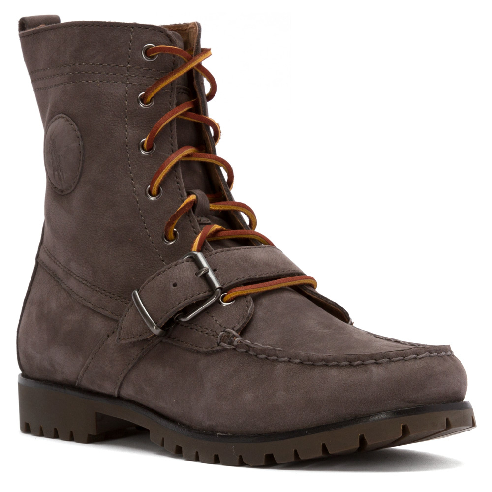 polo ralph ranger lace up boot in gray for lyst