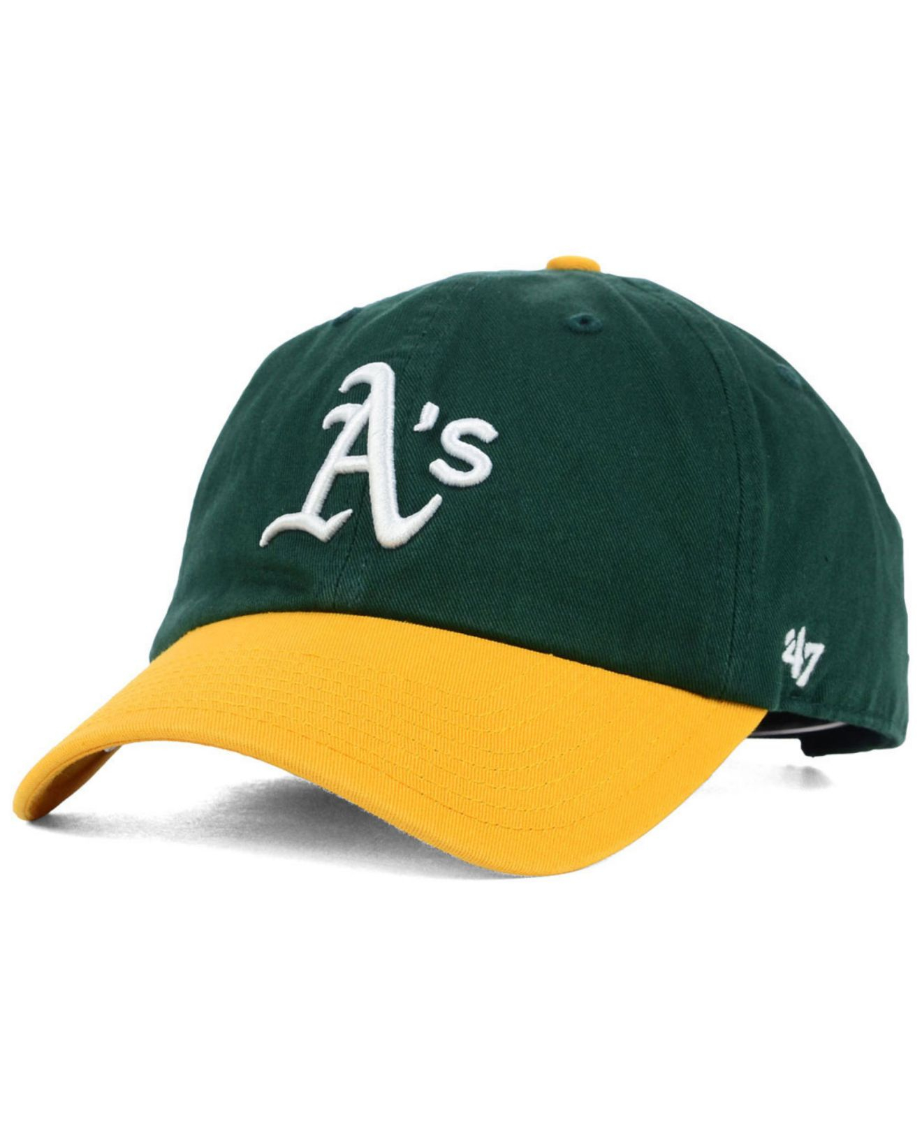 best sneakers 11ec4 6ae76 ... order lyst 47 brand oakland athletics ofr clean up cap in green for men  1f8e2 6ec4f