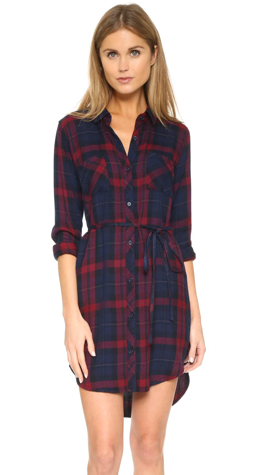 Lyst Rails Nadine Button Down Shirt Dress In Red