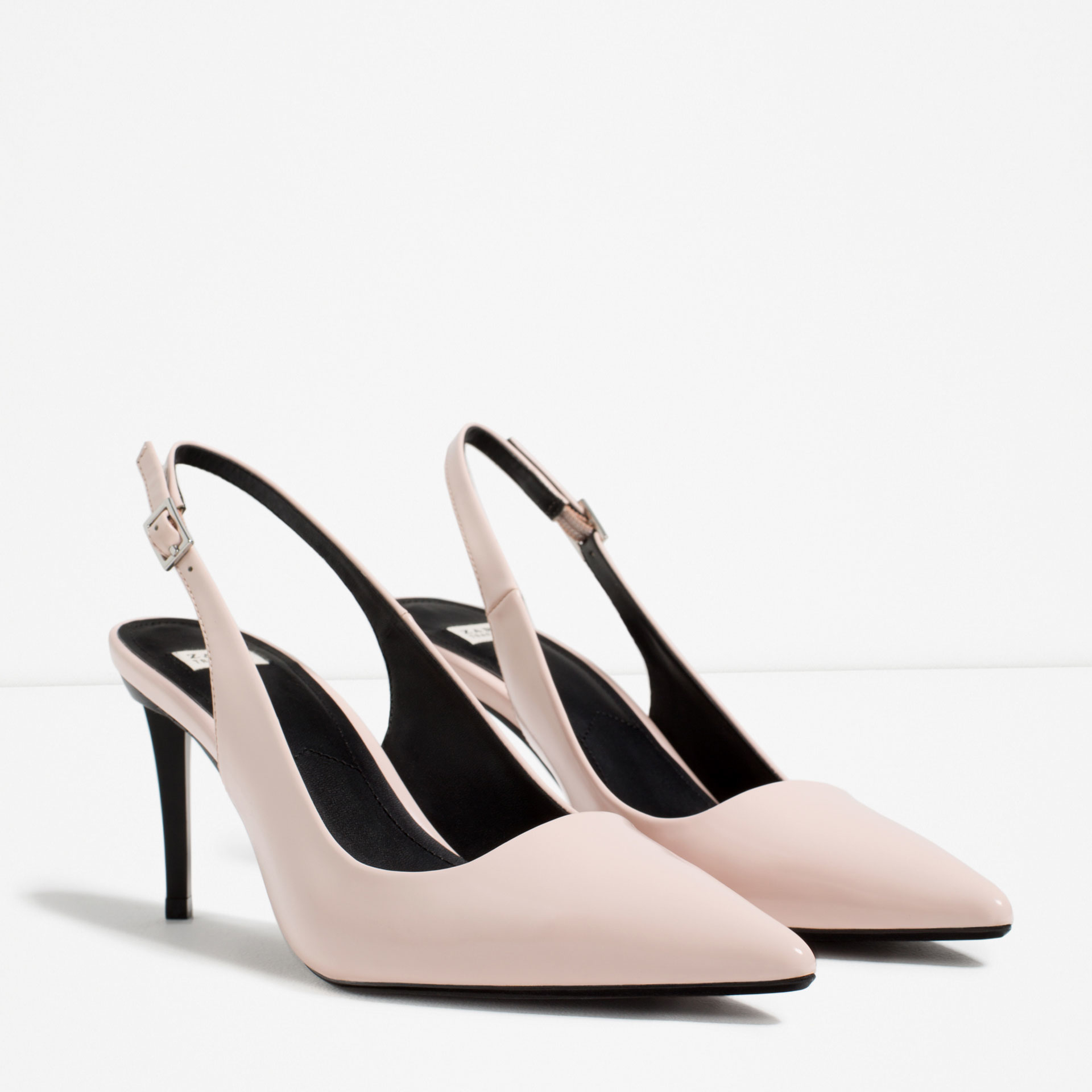 Zara Patent Strappy Heeled Shoes