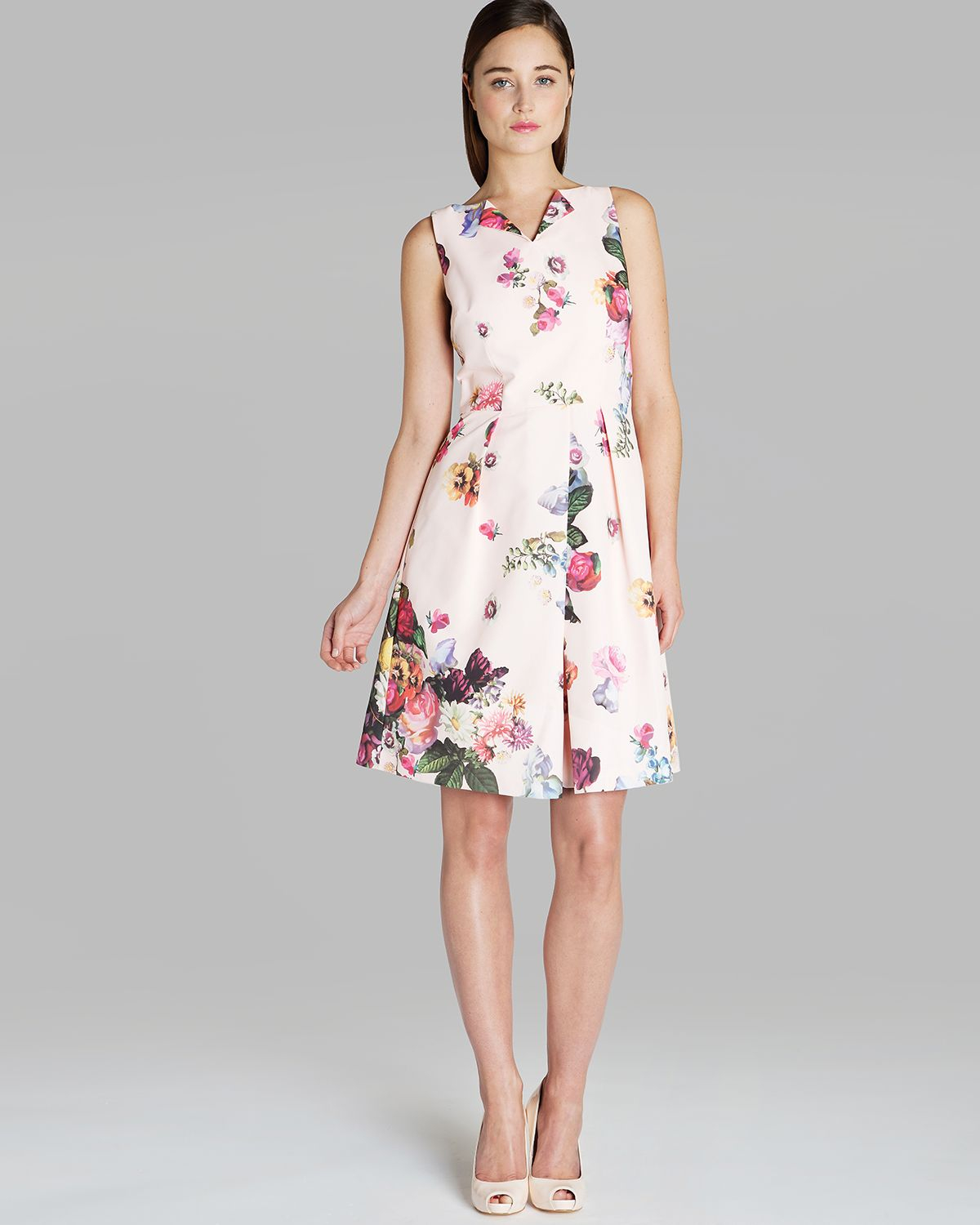Lyst Ted Baker Dress Deavon Floral Print In Pink