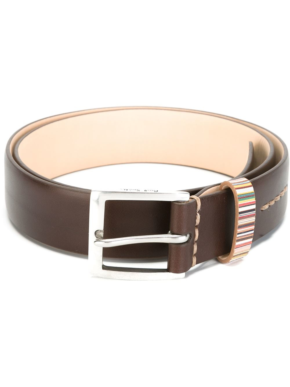 paul smith buckle belt in brown for lyst