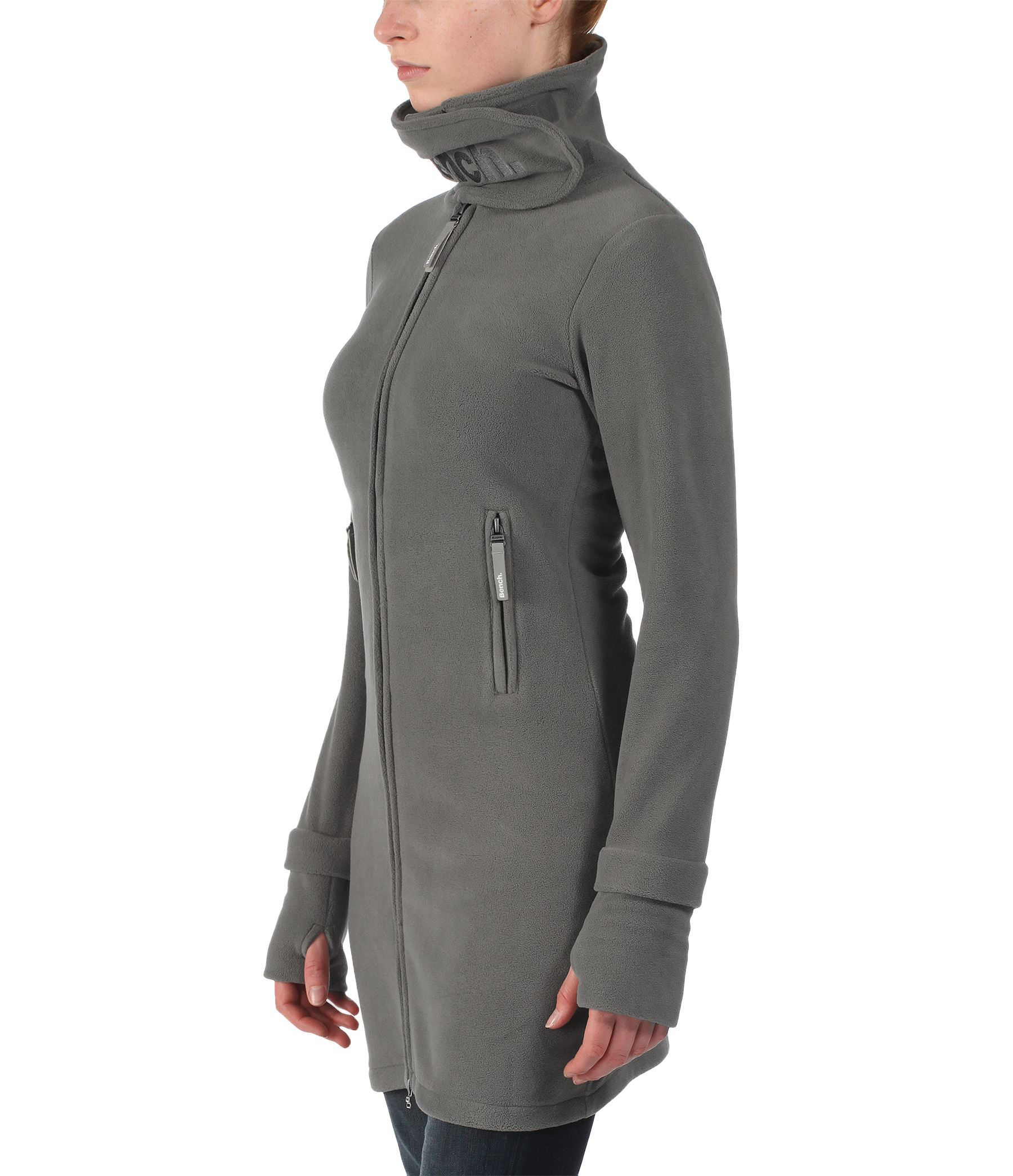 Bench Long Neck Zip Up Fleece Jacket in Gray | Lyst