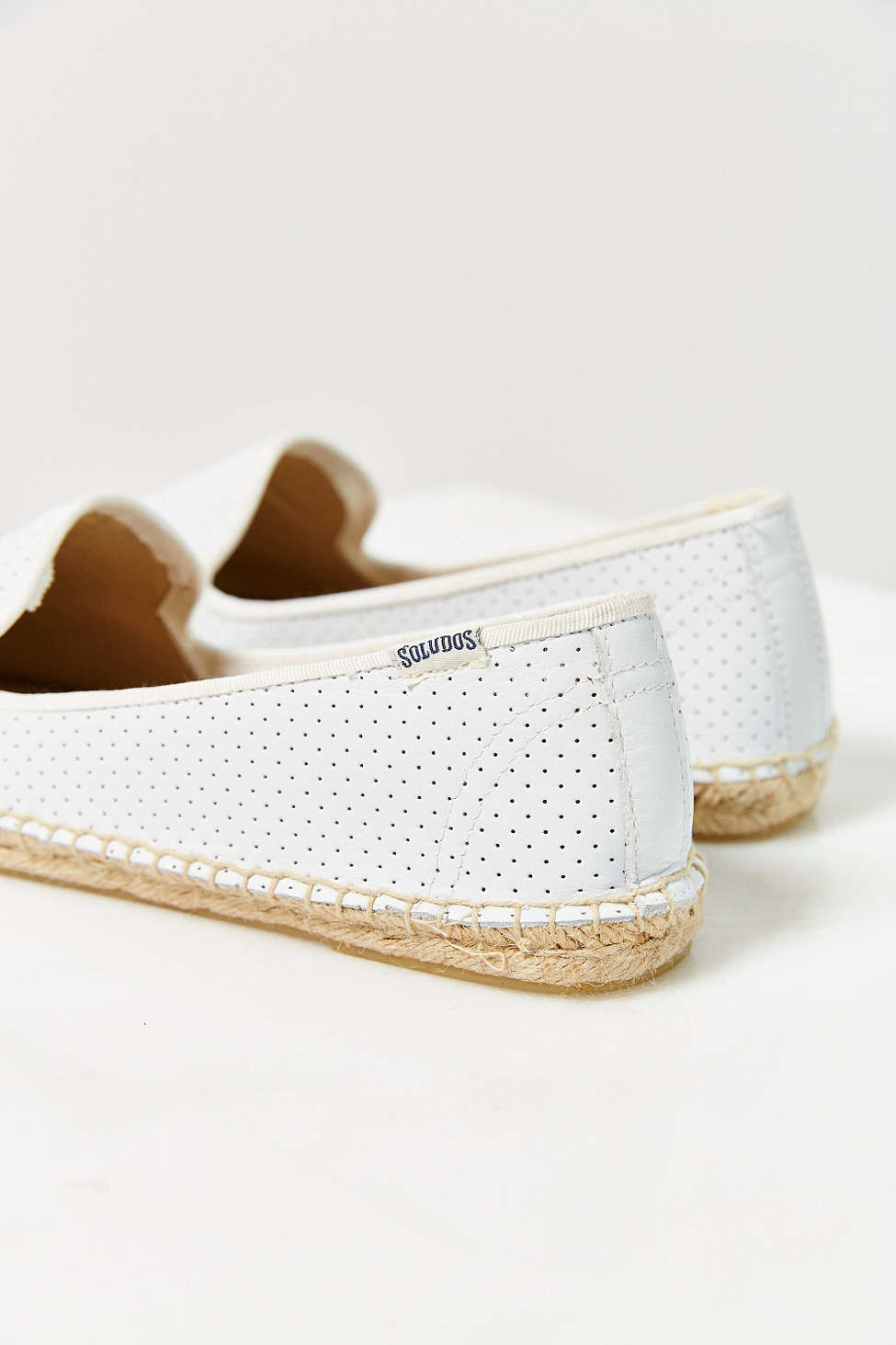 19b001ffc Soludos Perforated Leather Espadrille Loafer in White - Lyst