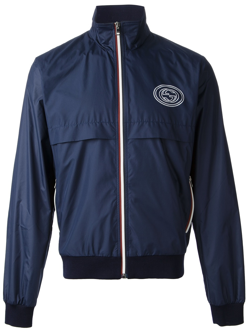 Gucci Classic Windbreaker Jacket in Blue for Men | Lyst