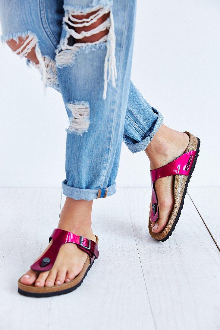 Birkenstock Gizeh Thong Sandal In Pink Lyst