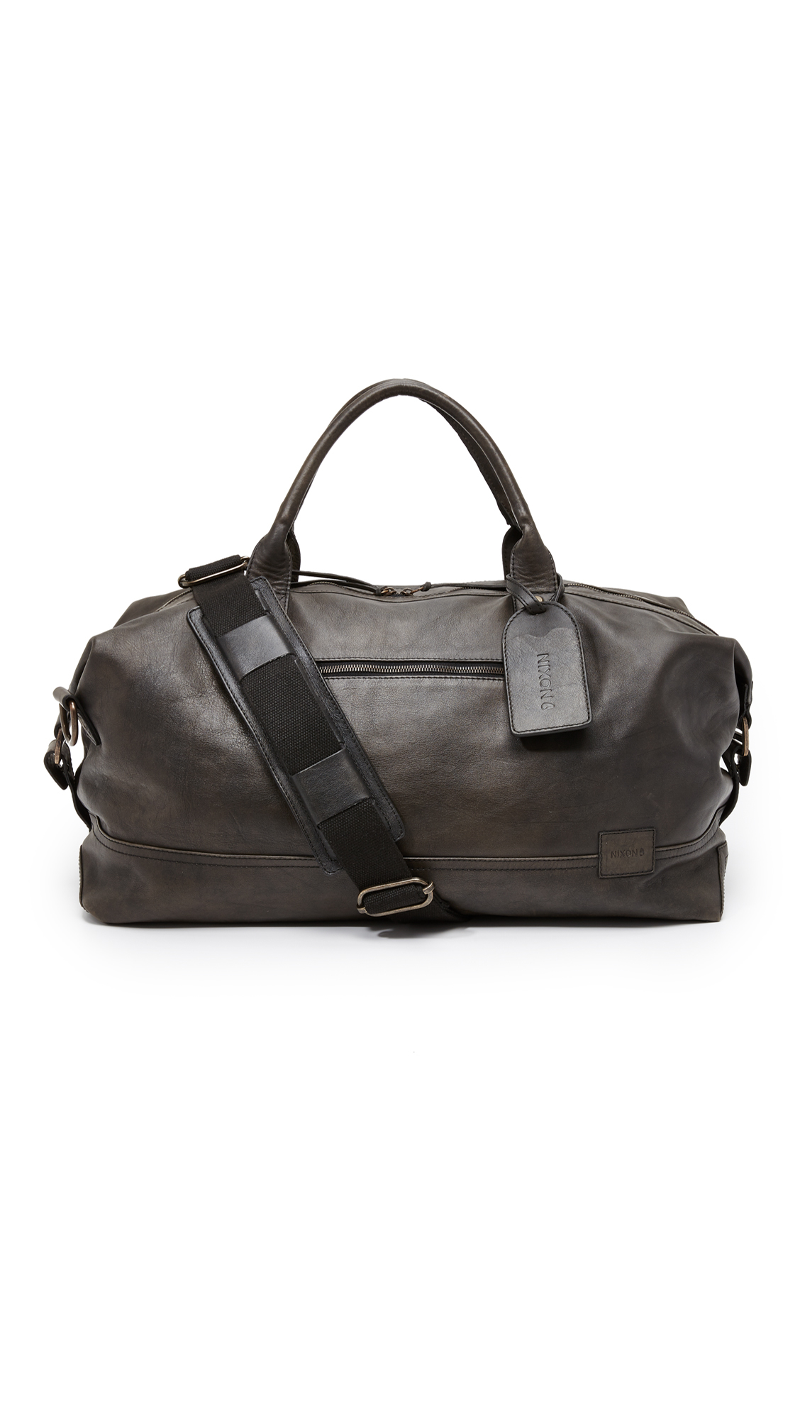b524483004f Nixon Desperado Leather Duffel Bag in Black for Men - Lyst