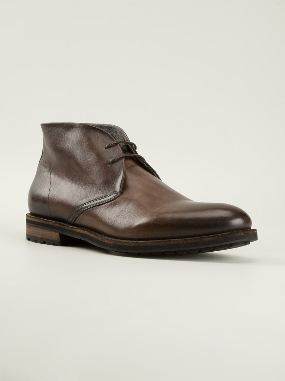 Lace-up boots brown Santoni gs7LbcN