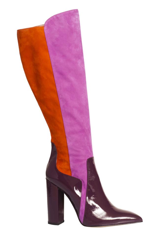 de siena celia multicolor suede knee high boots lyst