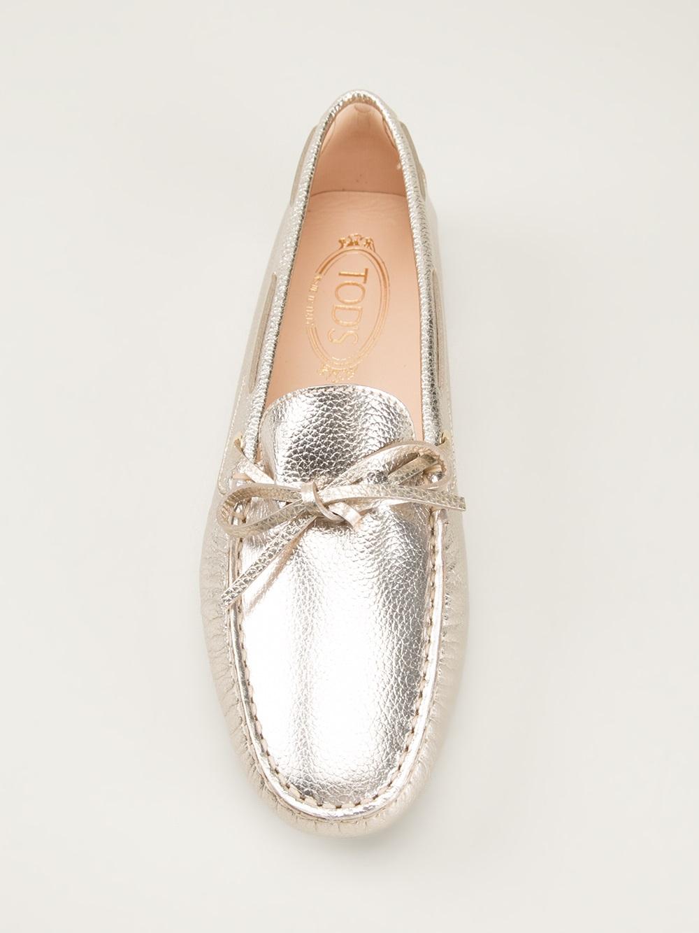 Chaussures De Conduite Gommino Tod - Métalliques I7UDFluRHI