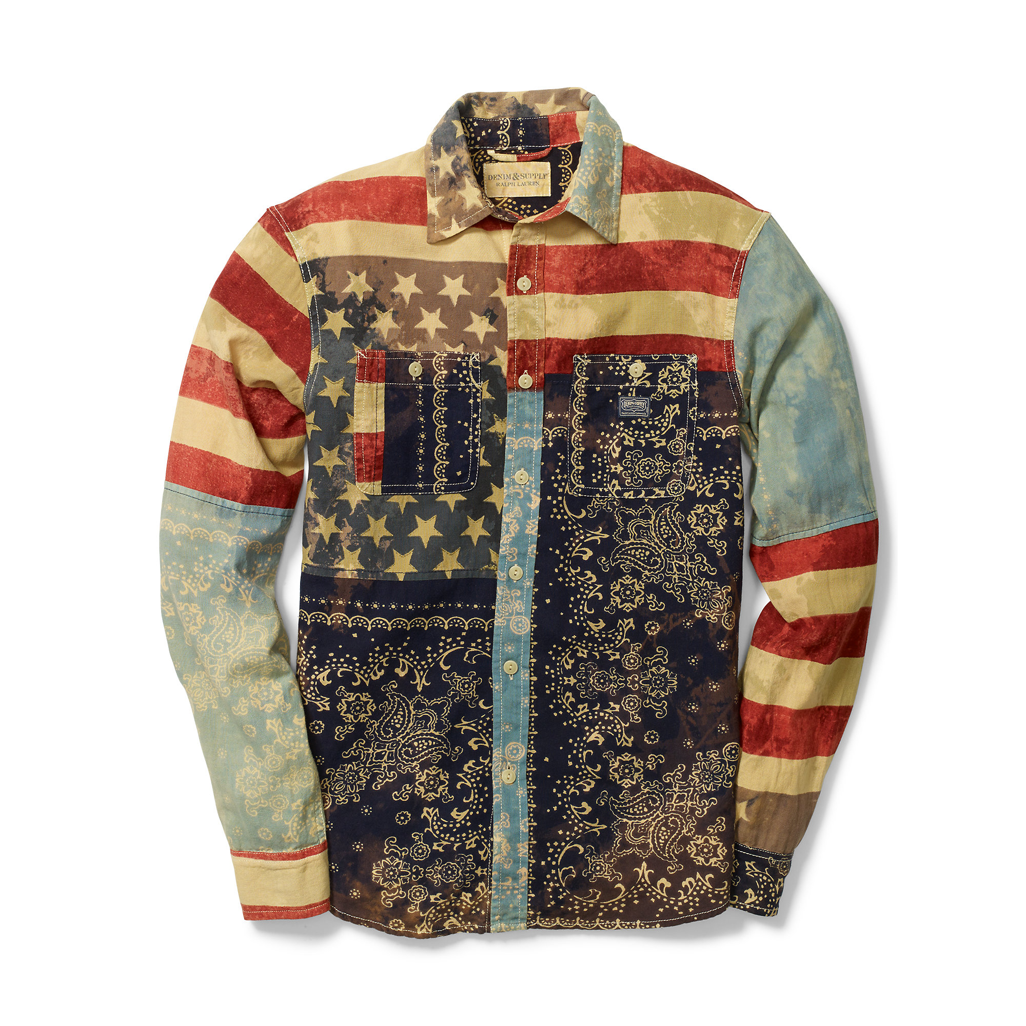 be972f608e Lyst - Denim   Supply Ralph Lauren Ward Americana Cotton Shirt in ...