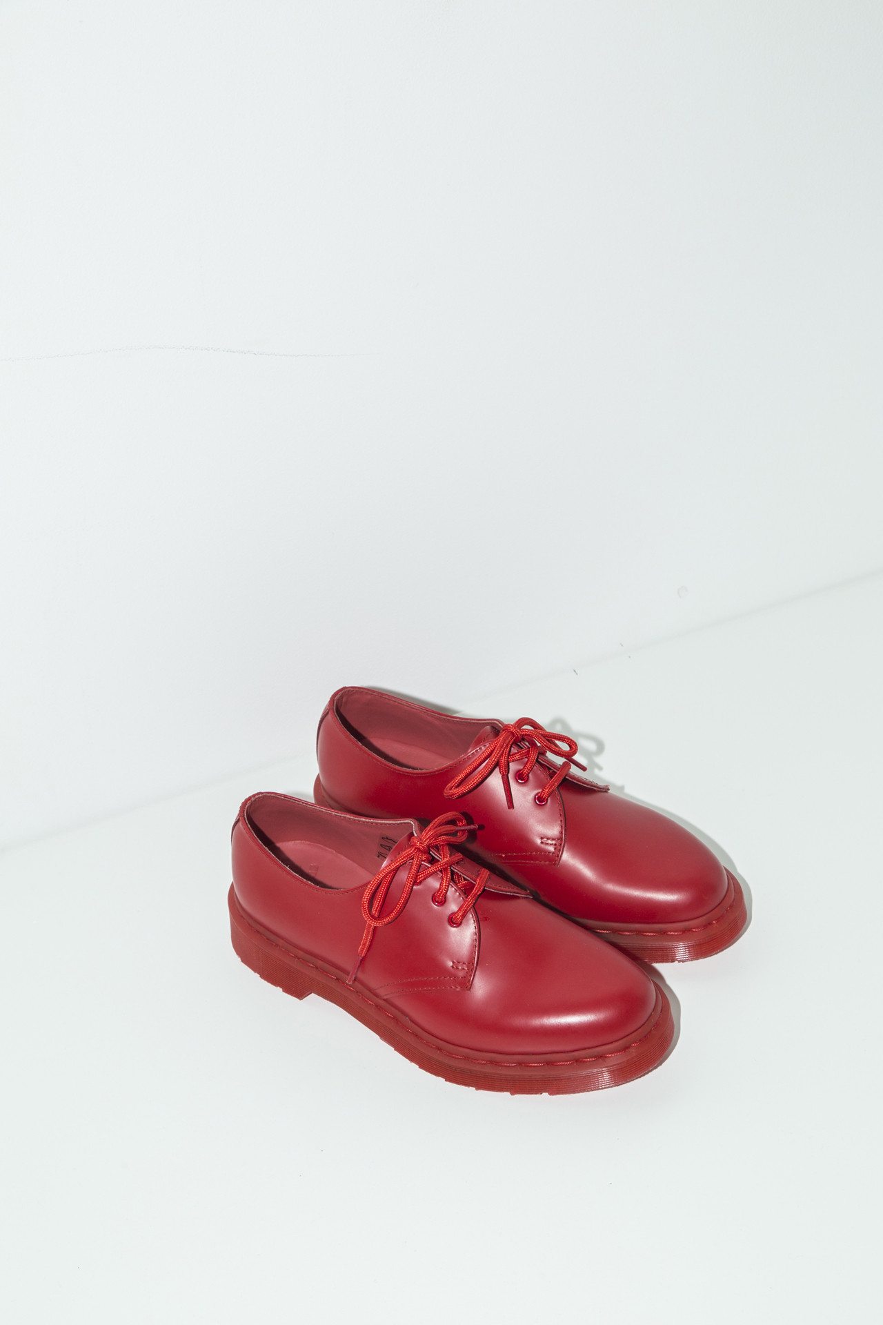 Dr. Martens 1461 Leather Oxford Shoes In Red | Lyst
