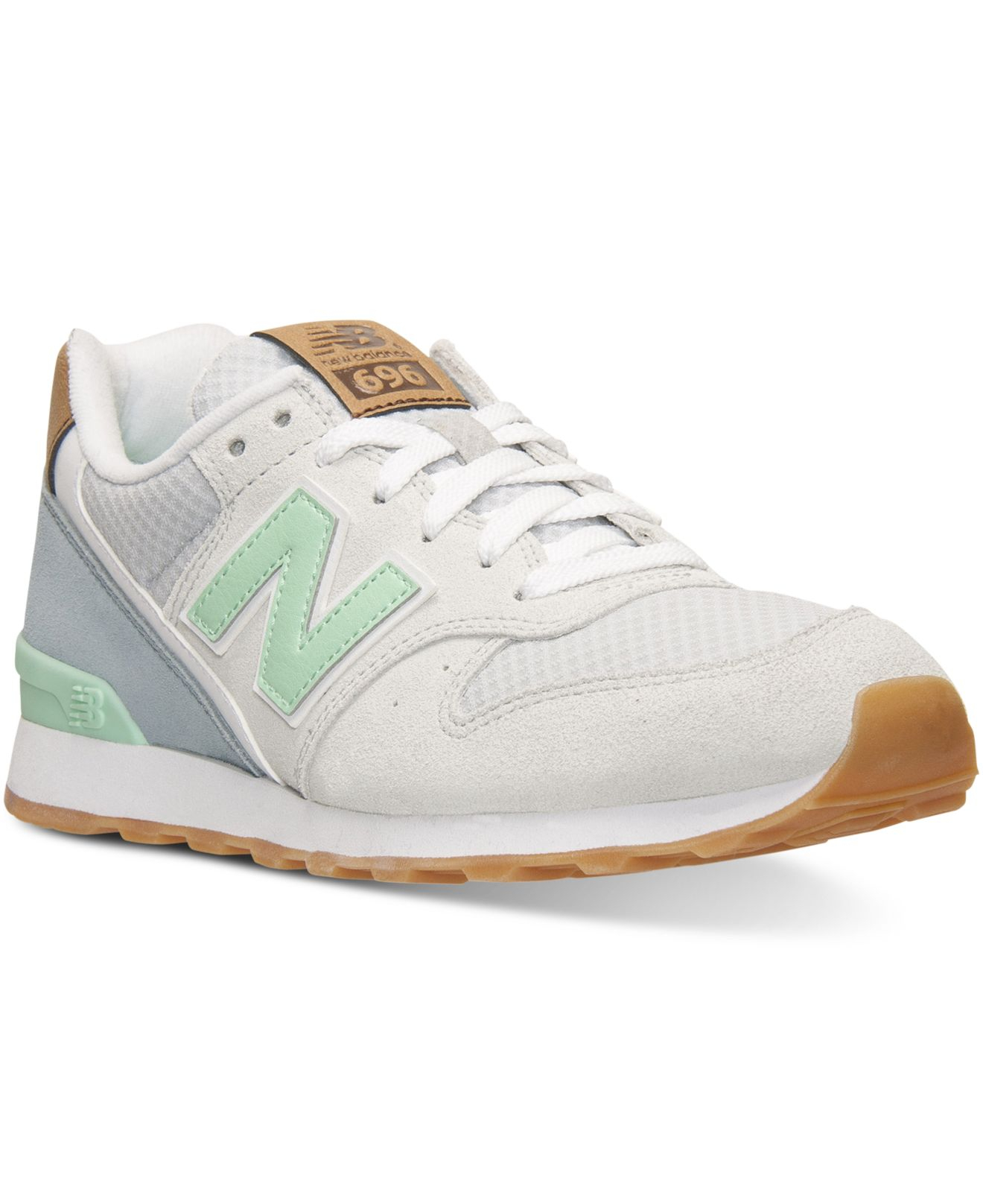 499bd35bf7f Lyst - New Balance Women s 696 Casual Sneakers From Finish Line in Green