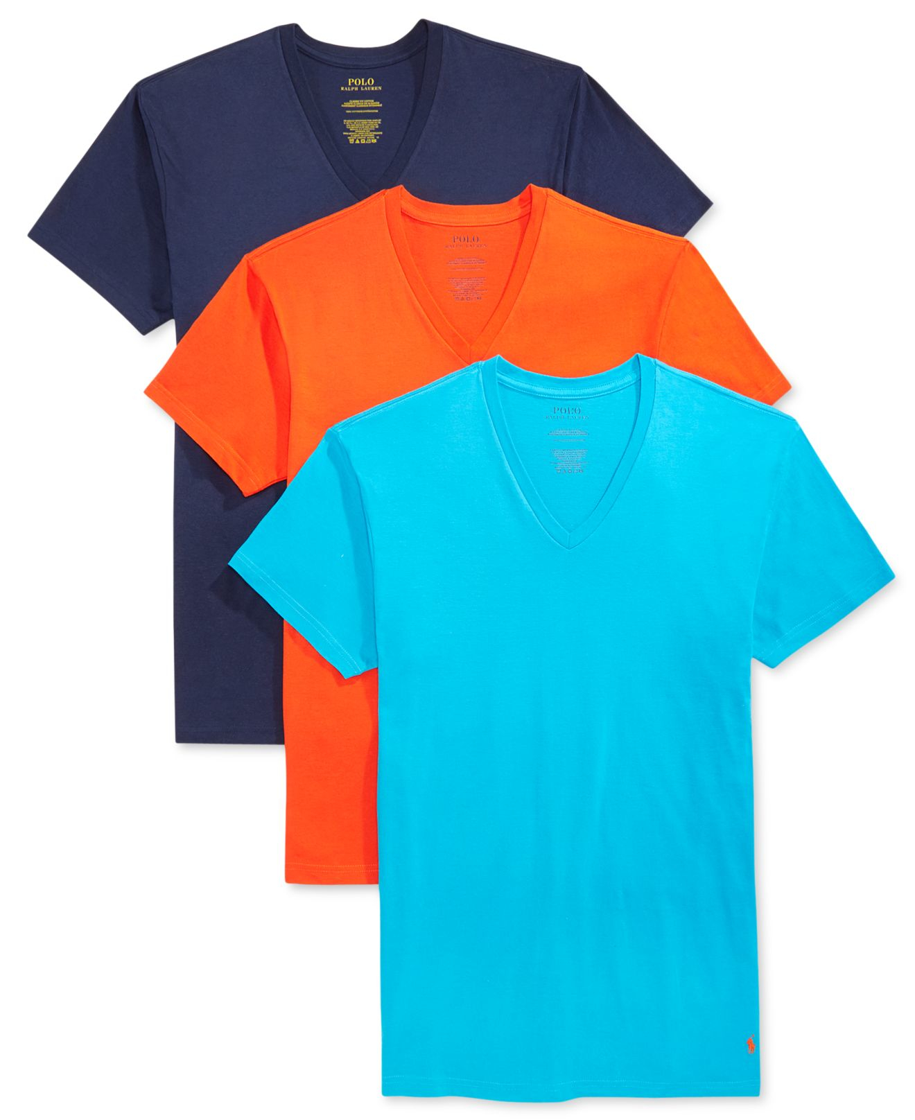 Polo Ralph Lauren Men 39 S V Neck T Shirt 3 Pack For Men Lyst