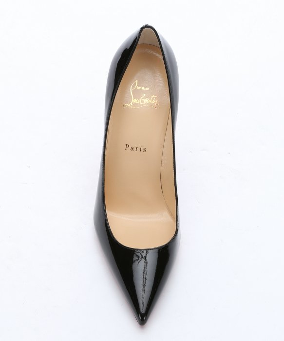 replica men shoes - Christian louboutin Black Patent Leather \u0026#39;decollete 554 100\u0026#39; Pumps ...