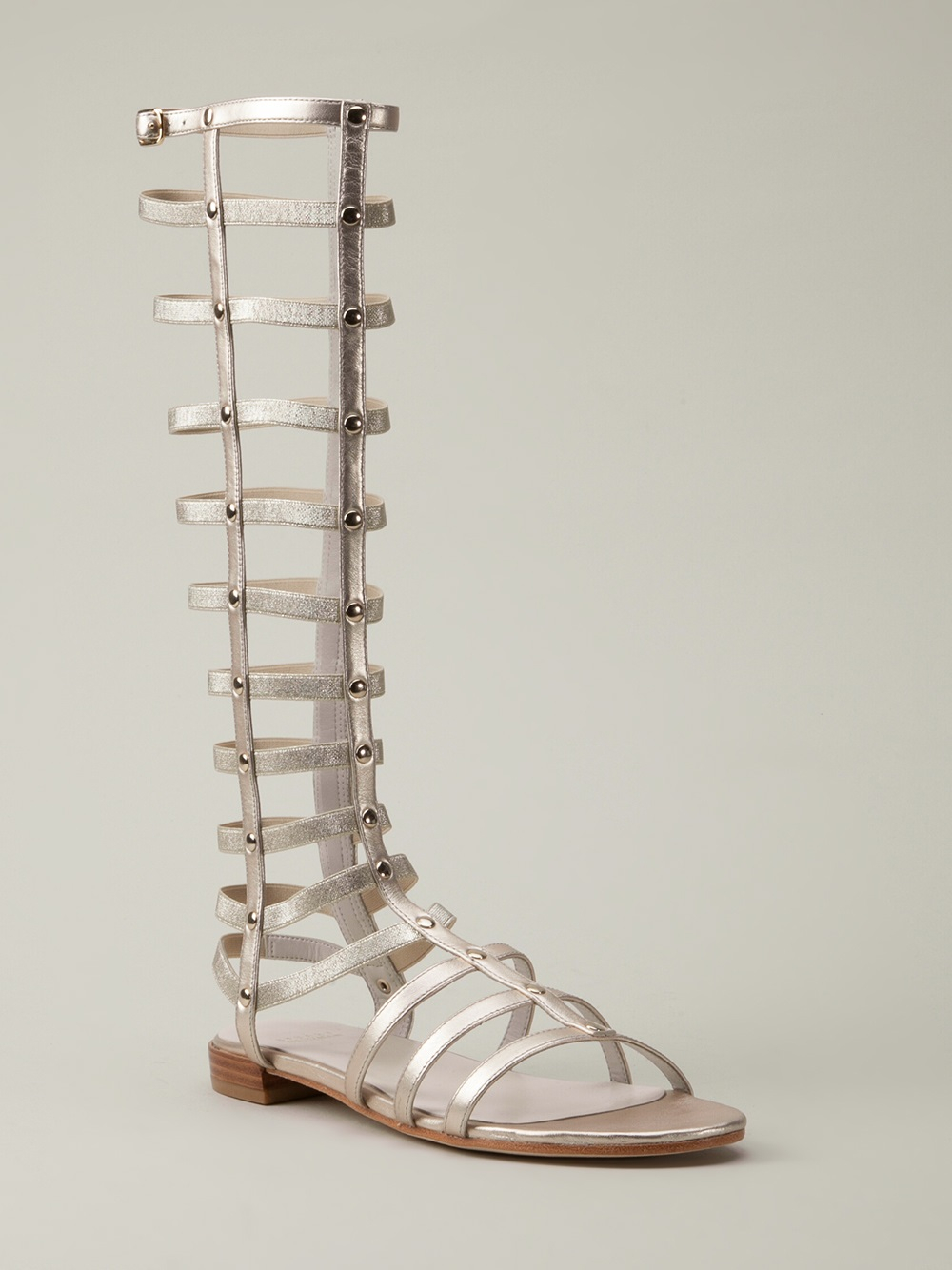 White Gladiator Sandals Shoes