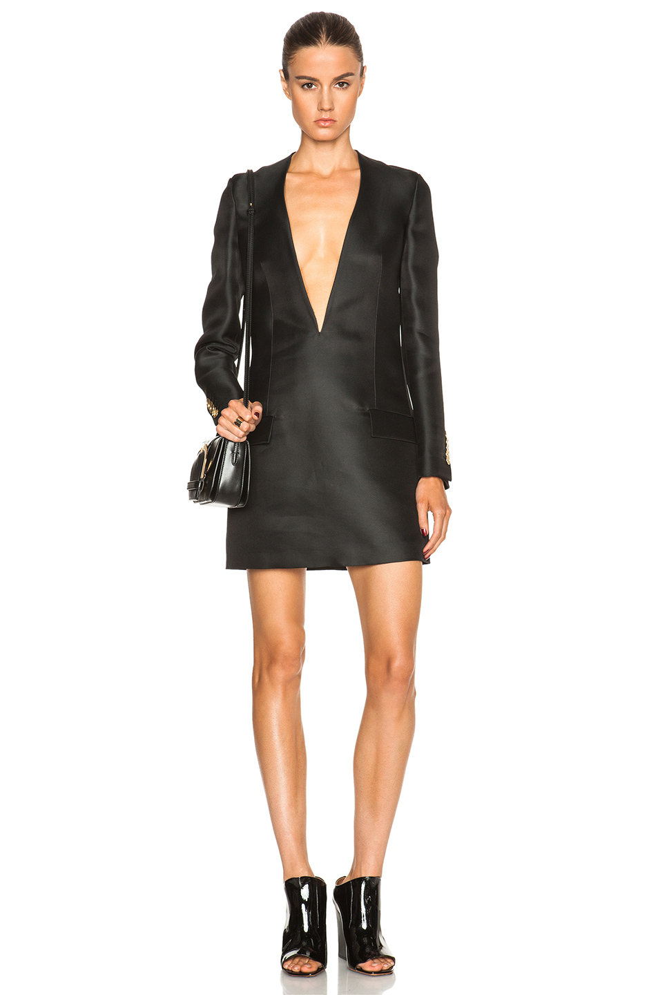 Acne studios Ryde Organza Suit Jacket Dress in Black | Lyst