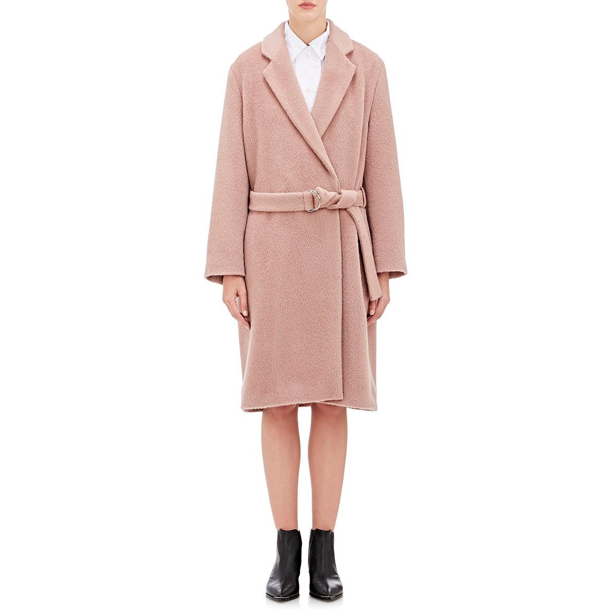 Acne studios Women's Elga Belted Coat in Pink | Lyst