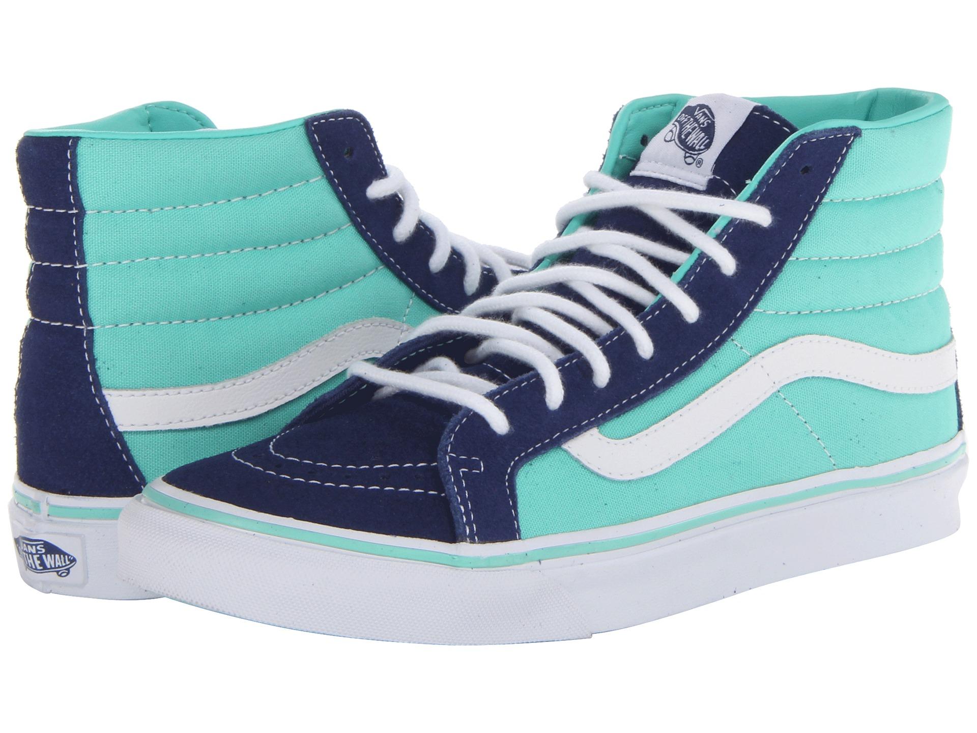Vans Sk8hi Lyst Blue Slim In Qf44ytx Sayings Sk8 Hi Sneakers True White