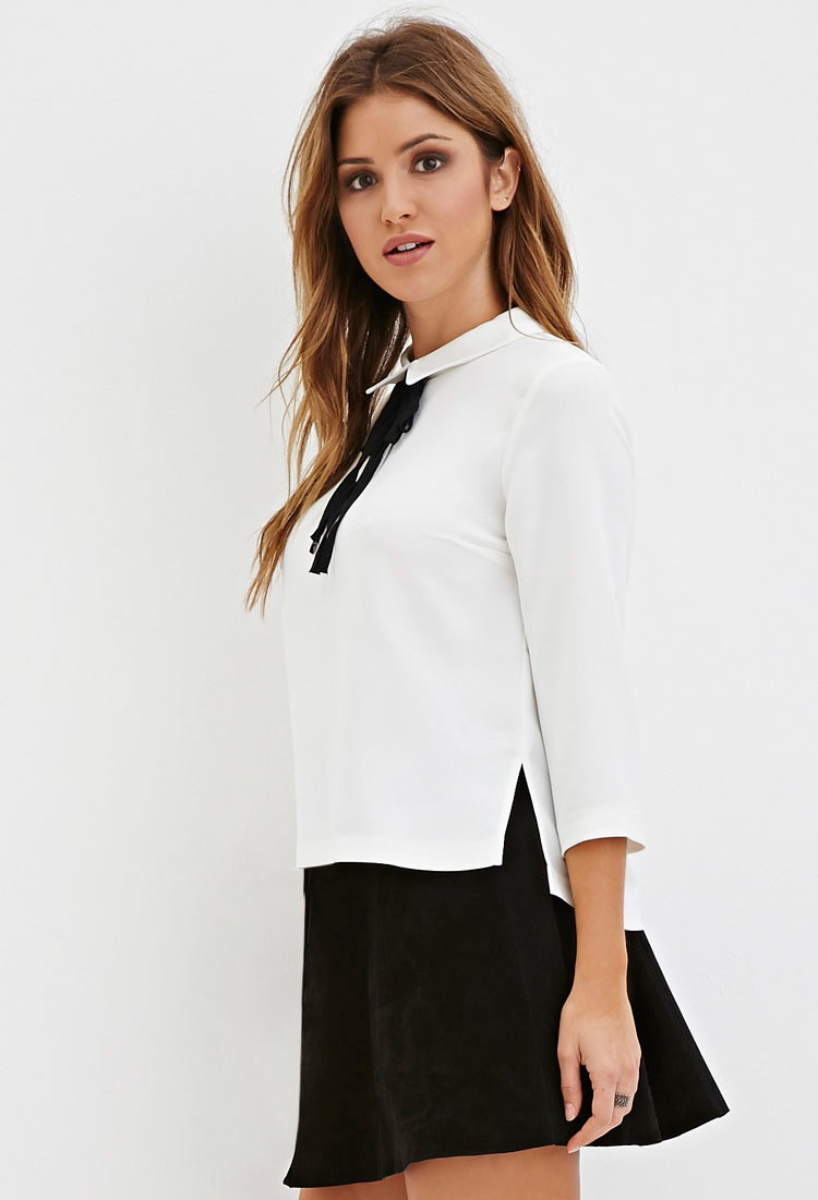 Black Collared Shirt Forever 21 Bcd Tofu House