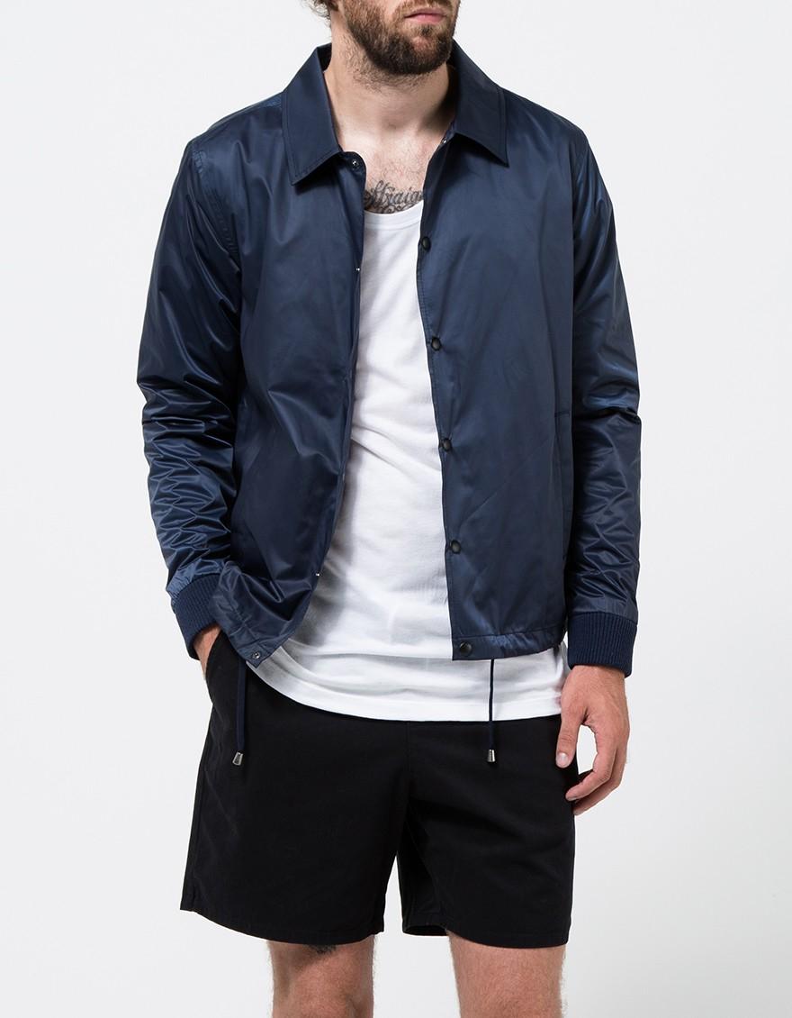 Topman Navy Nylon Coach Jacket in Blue for Men | Lyst