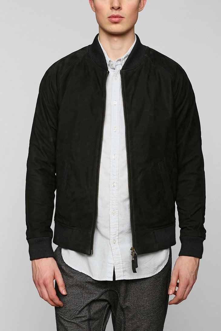 Zanerobe Playa Suede Bomber Jacket in Black for Men | Lyst
