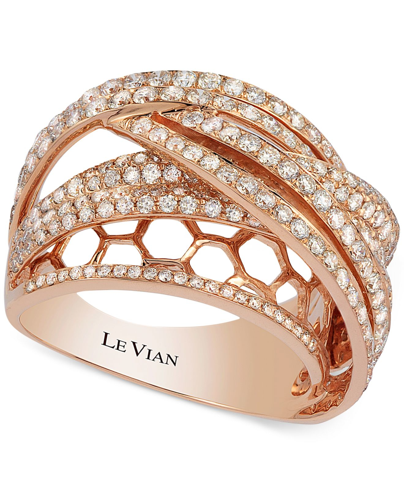 rose tribute the rings stone engagement collection ring diamond forevermark two layered gold product