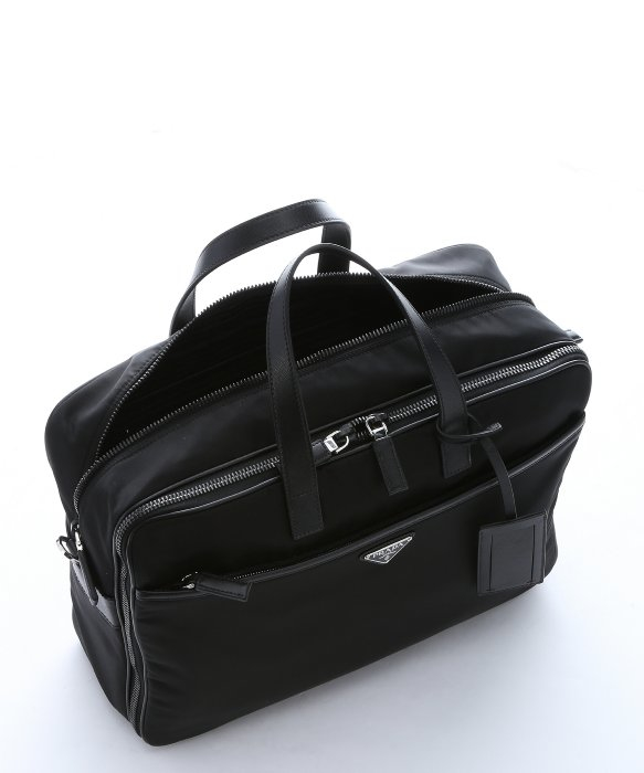 1fa73f09ae64 where to buy lyst prada black nylon and leather viaggio laptop briefcase bag  57275 fcec0