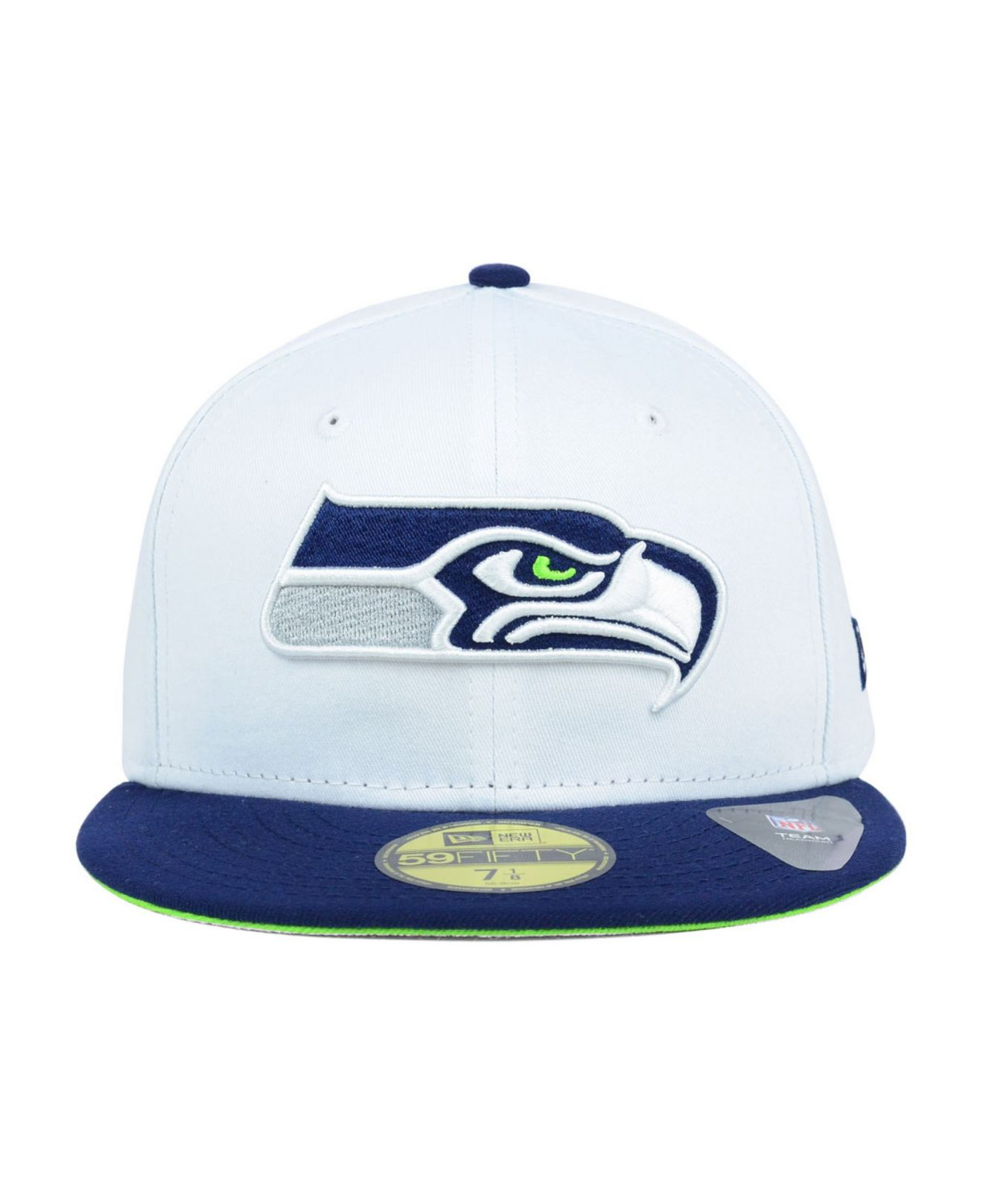 ... ktz seattle seahawks nfl 2 tone white team 59fifty cap in 7979f 907a2  where can i buy lyst ktz seattle seahawks classic 39thirty cap in black for  men ... 973f09885d64