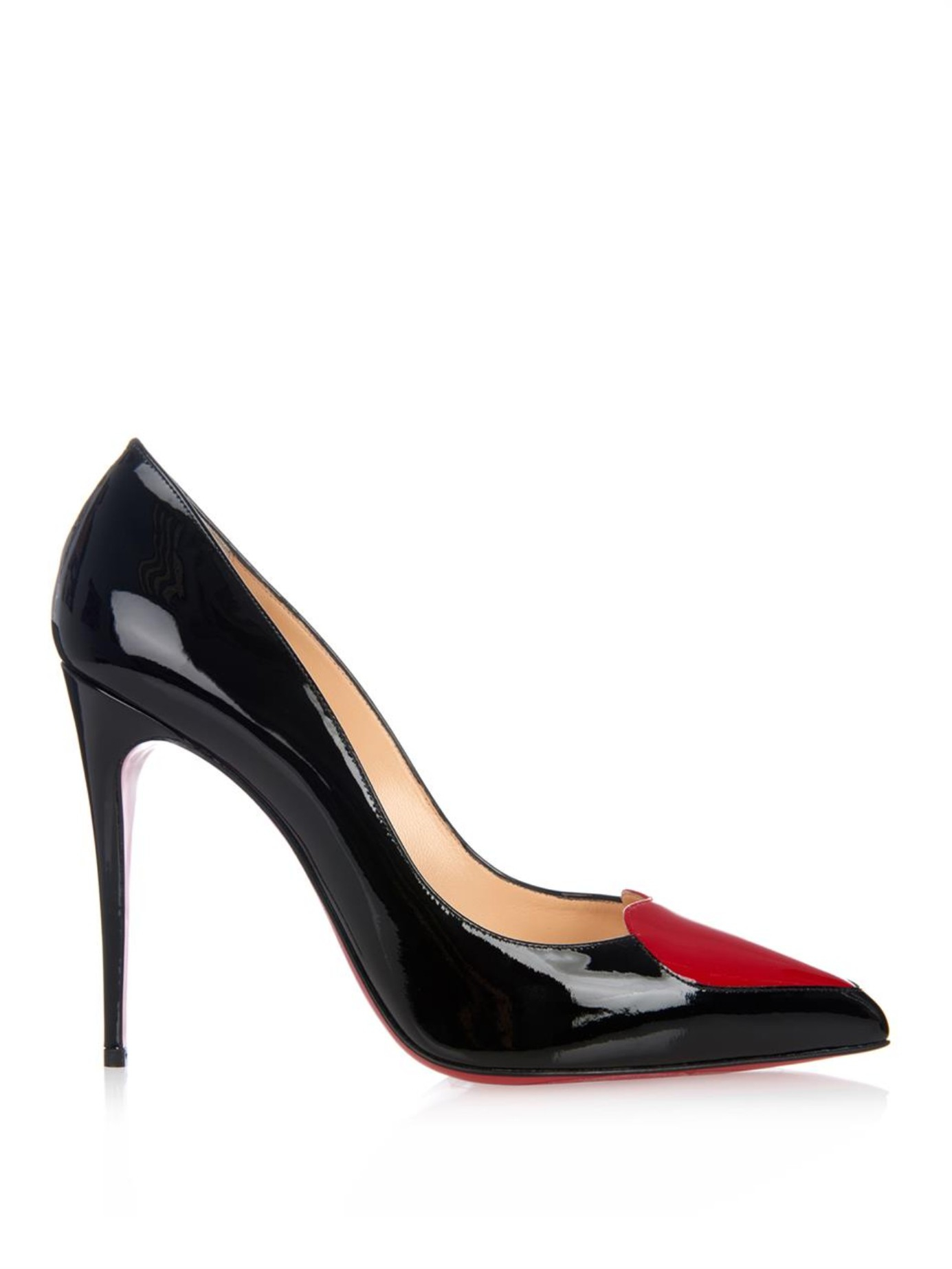 6c1712b25d Christian Louboutin Cora Heart Patent-Leather Heel Pumps in Red - Lyst