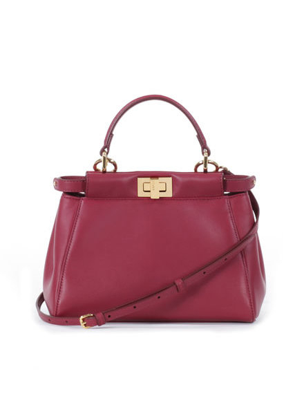 0f4c09b4c665 ... spain lyst fendi peekaboo mini satchel in red 3b31f c1630