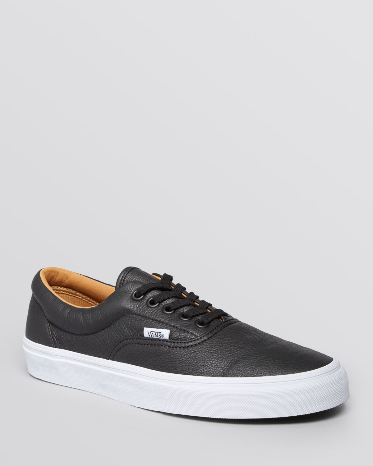 f663258ce6d Lyst - Vans Era Premium Leather Lace-Up Sneakers in Black for Men