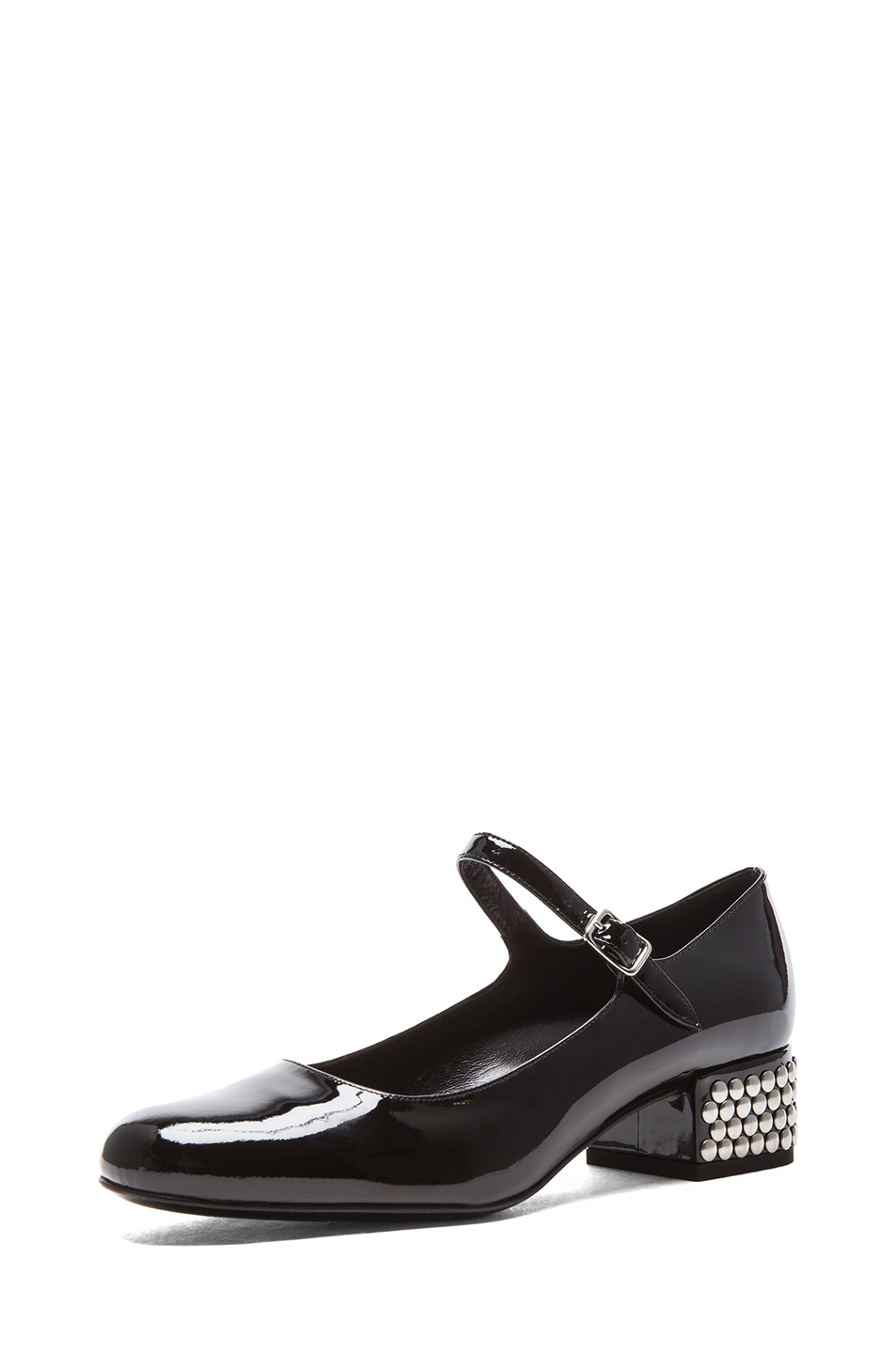 6d36d80f8af Saint Laurent Babies Mary Jane Flat with Studded Heel in Black - Lyst