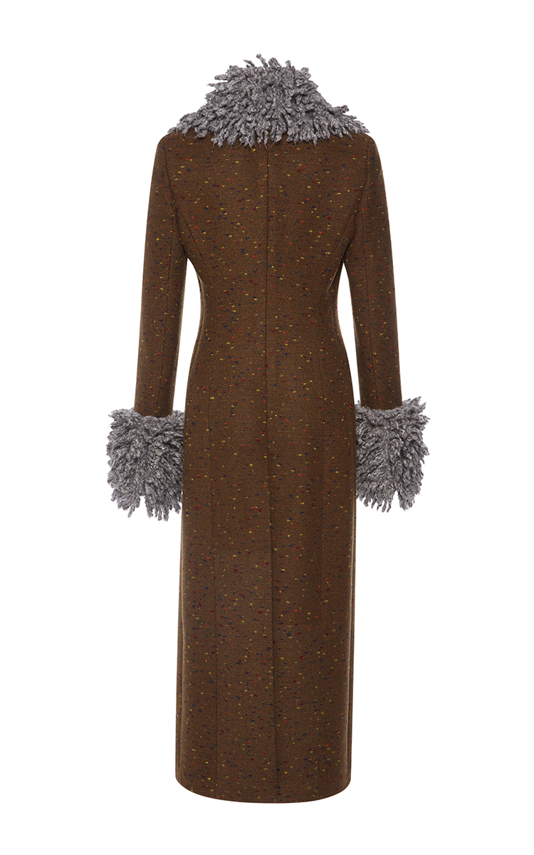 Lyst Christopher Kane Long Tailored Heavy Wool Coat In