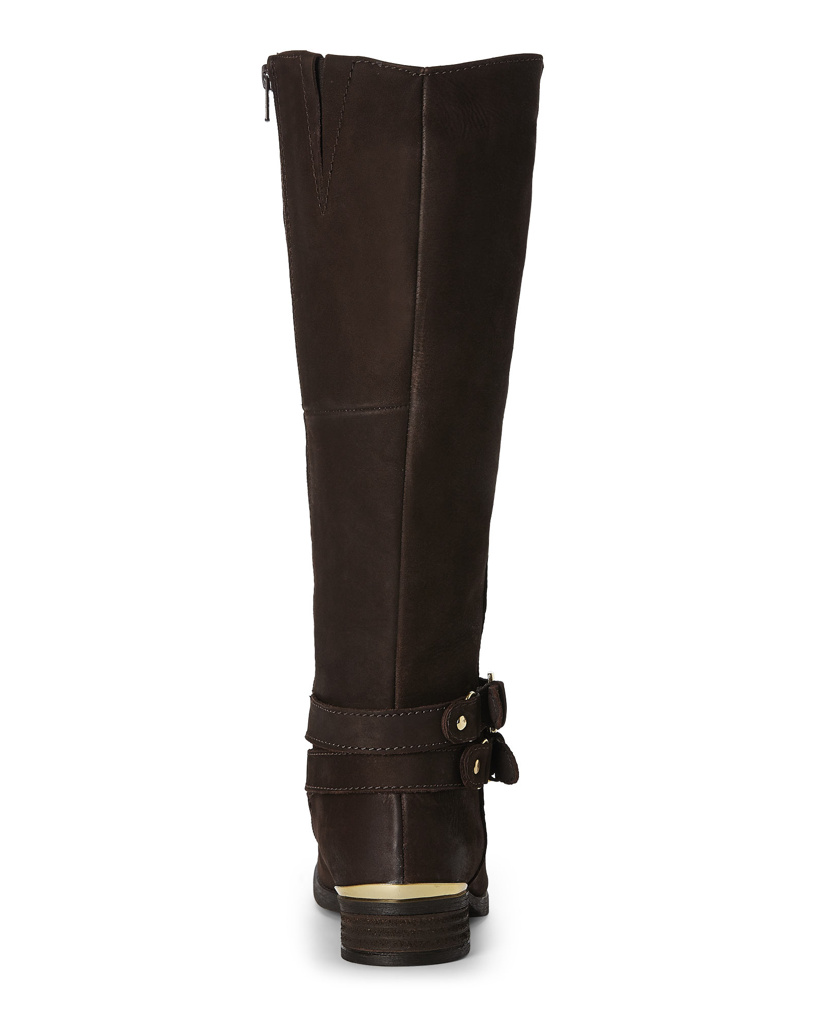 Steve madden Chocolate Amill Riding Boots in Brown | Lyst