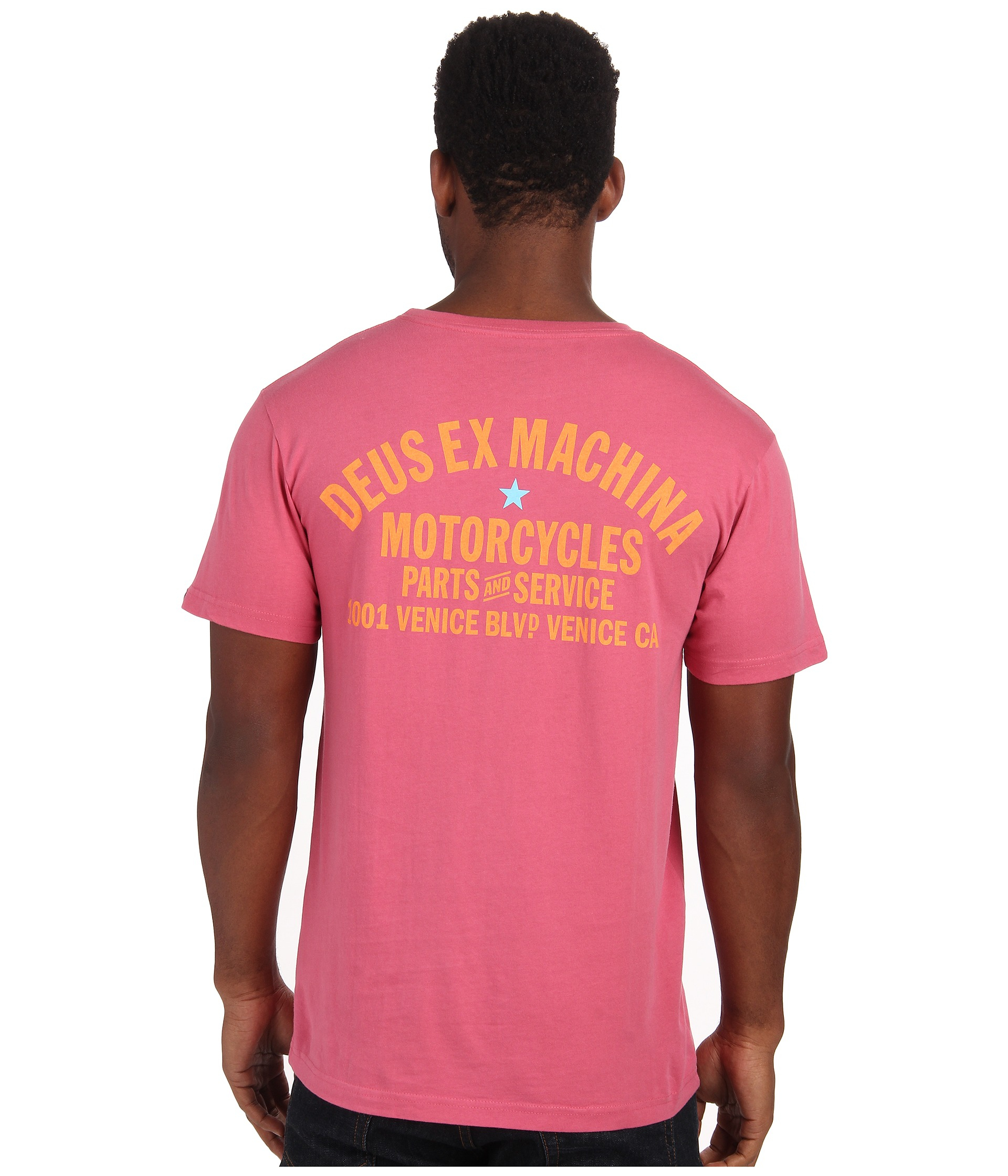 956851a0e63ec5 Lyst - Deus Ex Machina Venice Shield Tee in Pink for Men