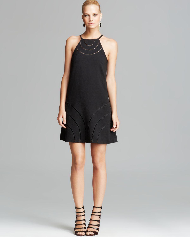 Trina turk Dress - Morena Crepe Shift in Black - Lyst