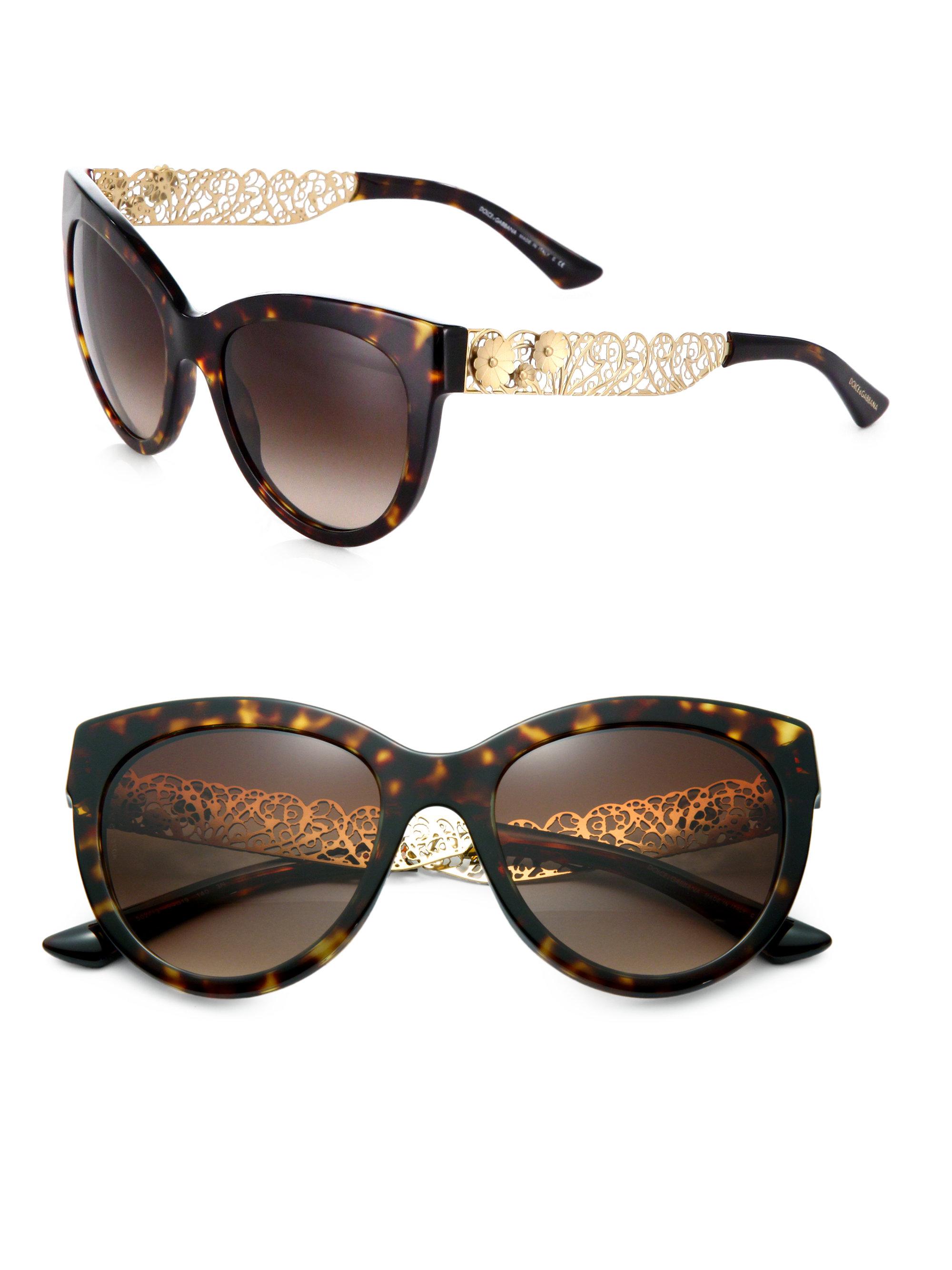 35b42ba49a Dolce   Gabbana Garden Flowers Cat s-eye Sunglasses - Bitterroot ...