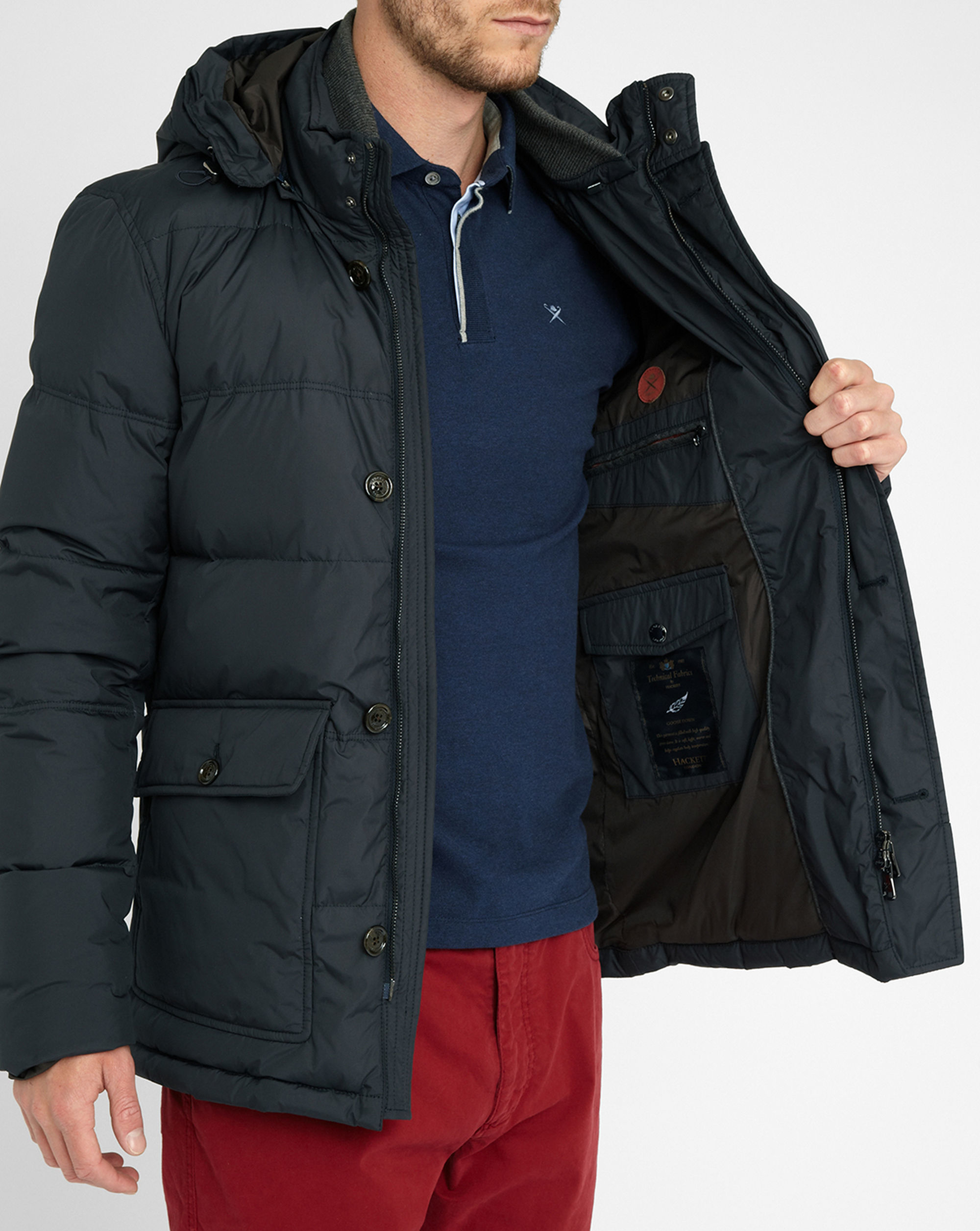 Canada Goose chilliwack parka outlet official - Hackett Navy Louis Down Parka in Blue for Men | Lyst