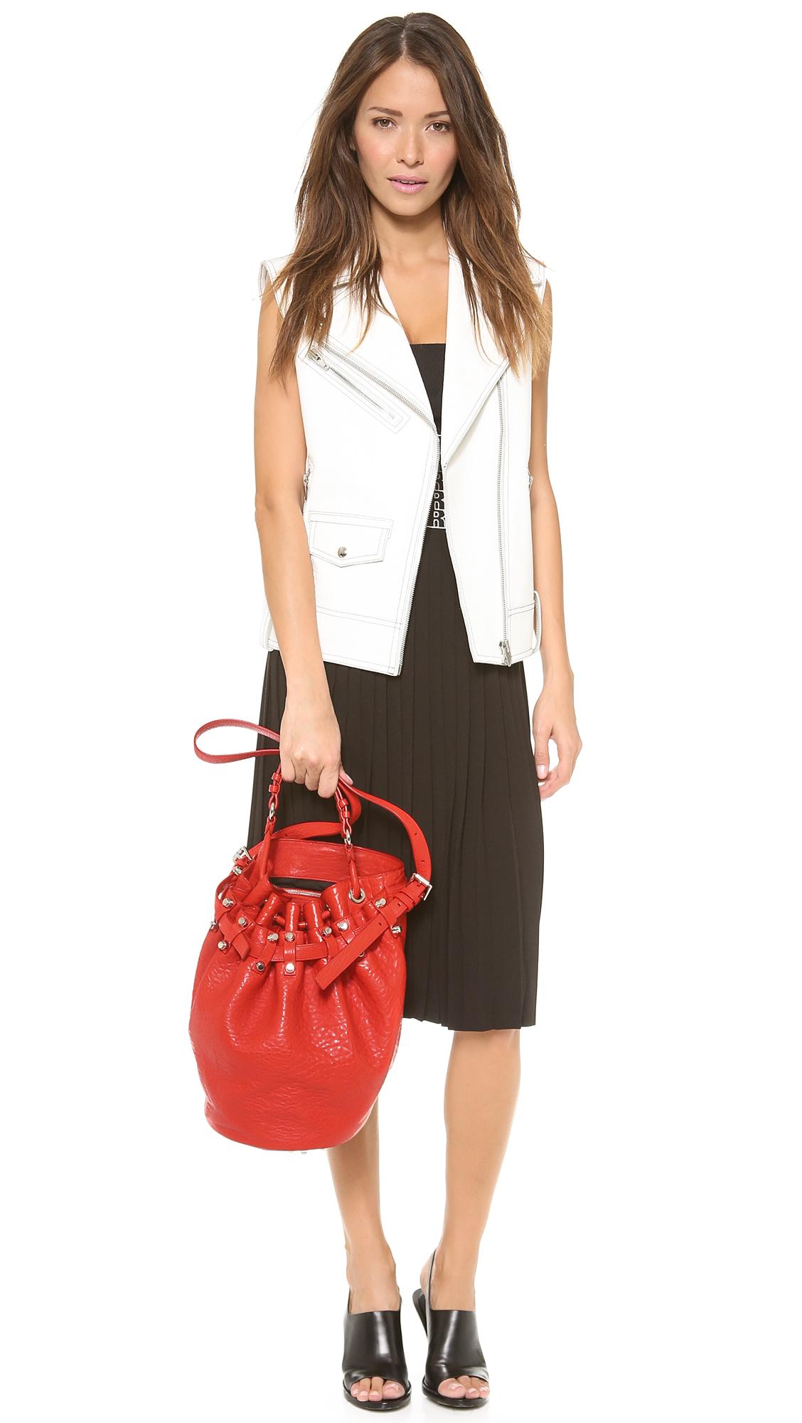Lyst Alexander Wang Diego Bucket Bag In Red