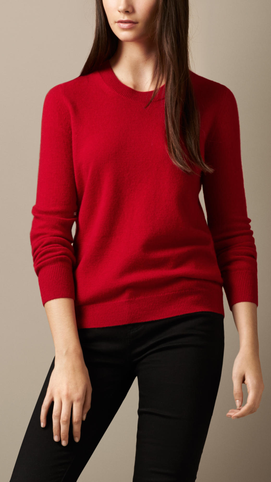 Cashmere Red Sweater Her Sweater