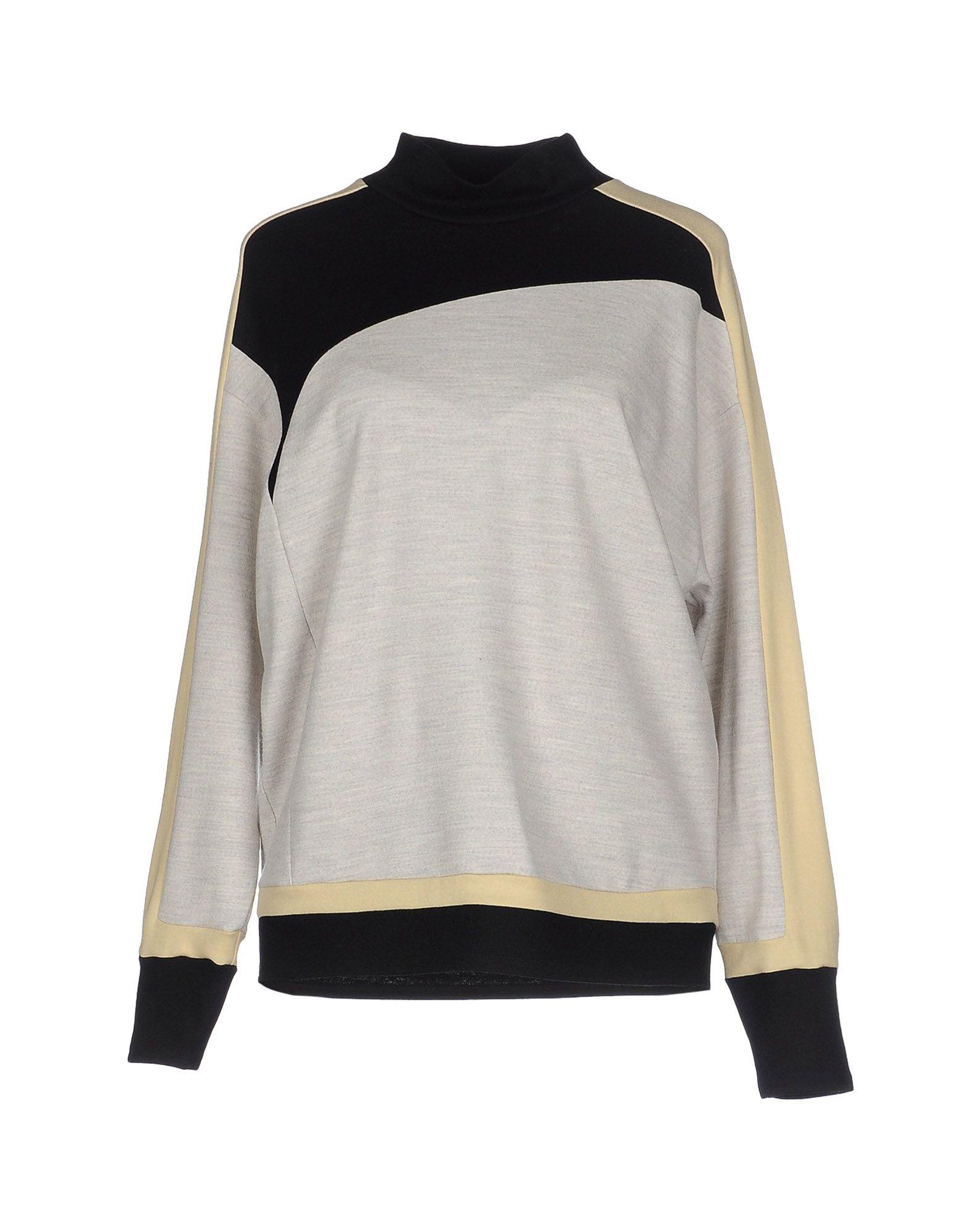 Lyst helmut lang sweatshirt in black - Sweatshirt kleid lang ...
