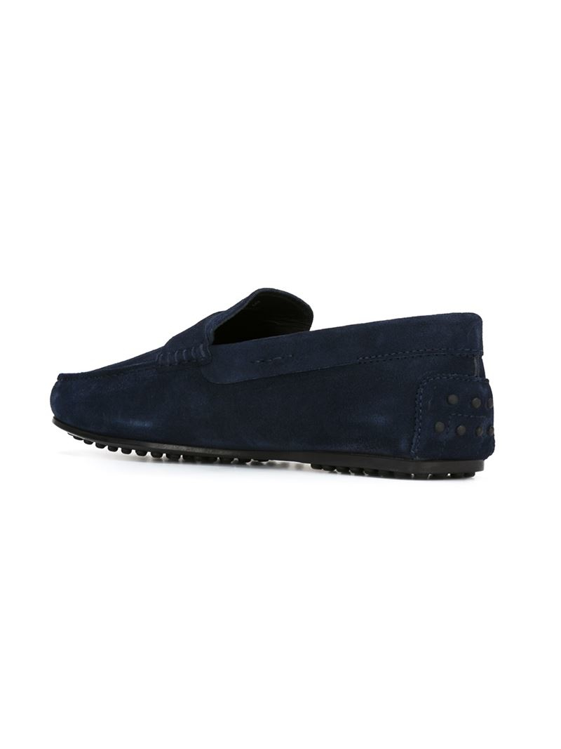 Tod's | Blue 'gommino' Driving Shoes for Men | Lyst
