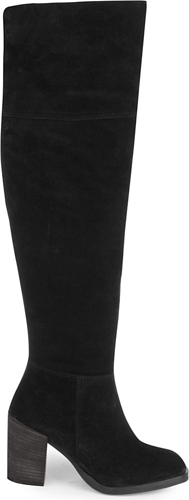 Carvela kurt geiger Wish Suede Knee-high Boots in Black | Lyst