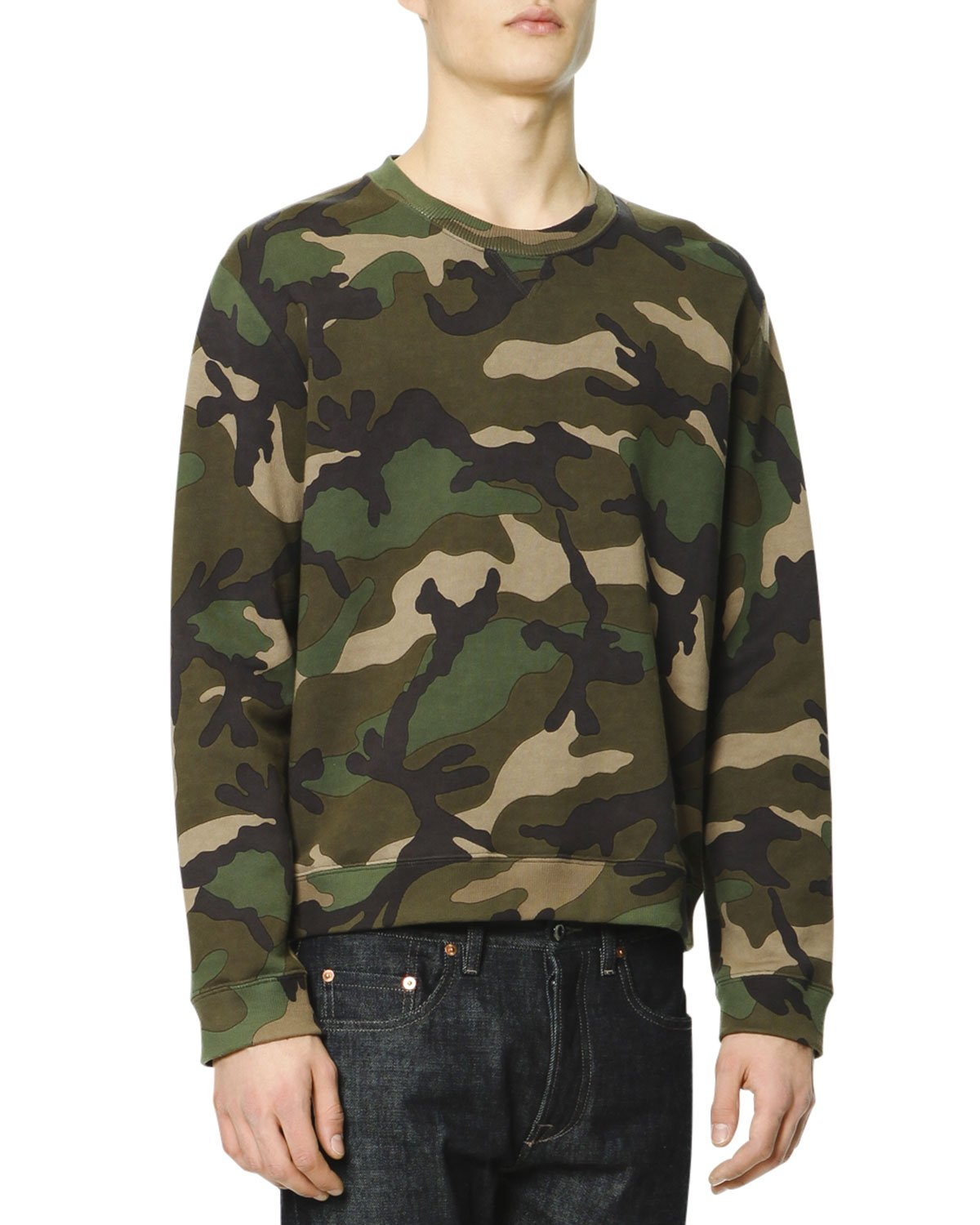 Lyst - Valentino Camo-print Sweatshirt in Green for Men b87bdc93621
