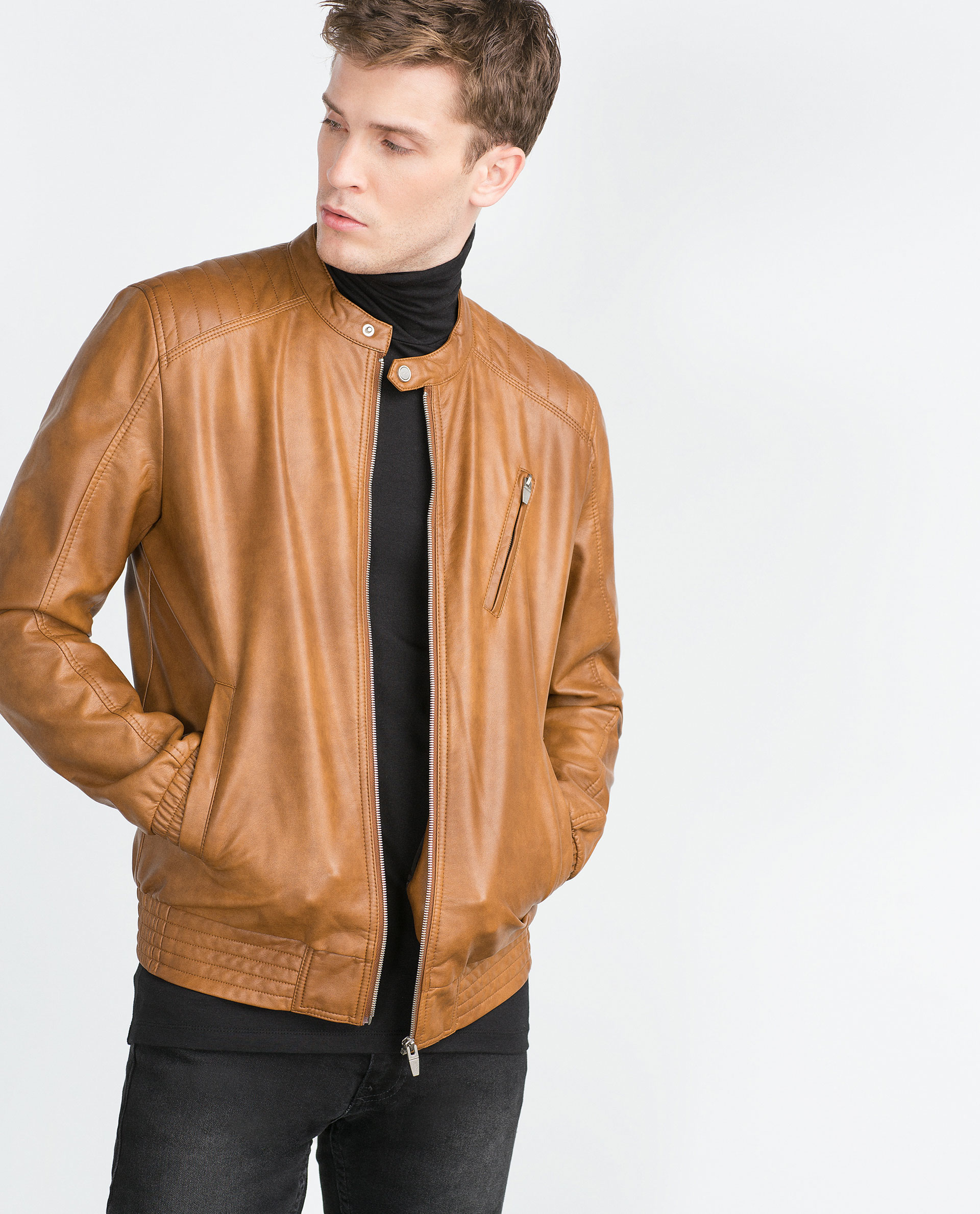 Tan Leather Jacket Photo Album - Reikian