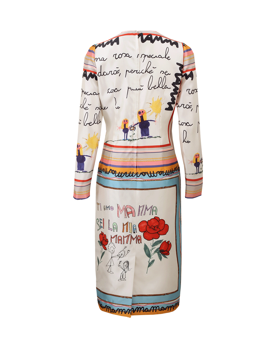 3e0033a5 Dolce & Gabbana Childs Drawing Dress in White - Lyst