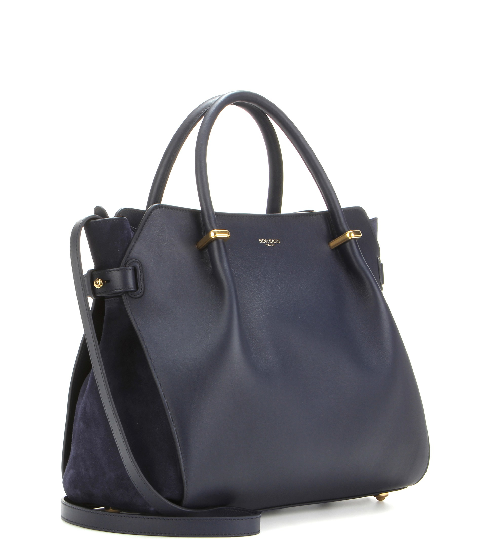 c140d47924 Nina Ricci Marché Small Leather Tote in Blue - Lyst