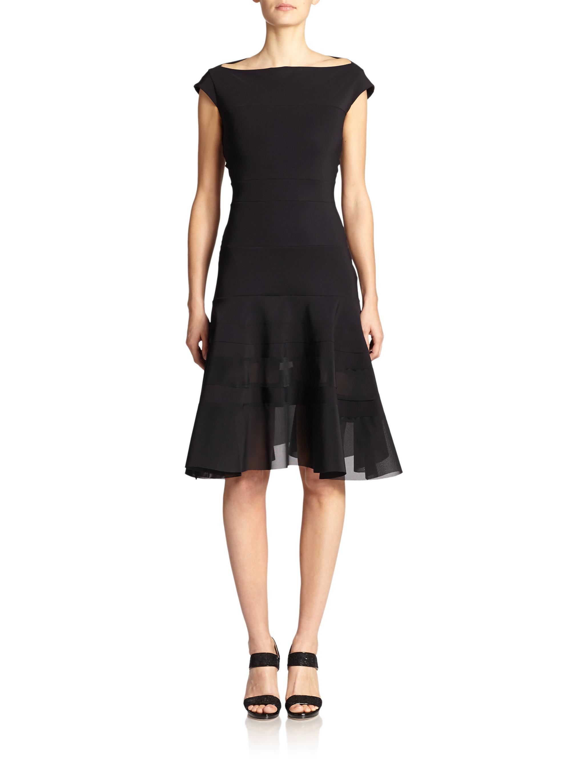 db3475a7586 Lyst - La Petite Robe Di Chiara Boni Olanda Illusion Dress in Black